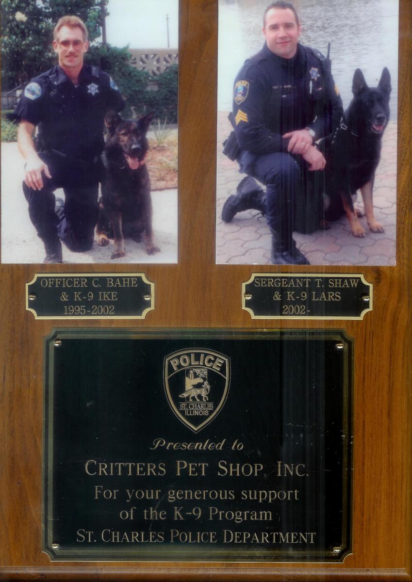 St  Charles Police dog Award | 566 Randall Road, South Elgin